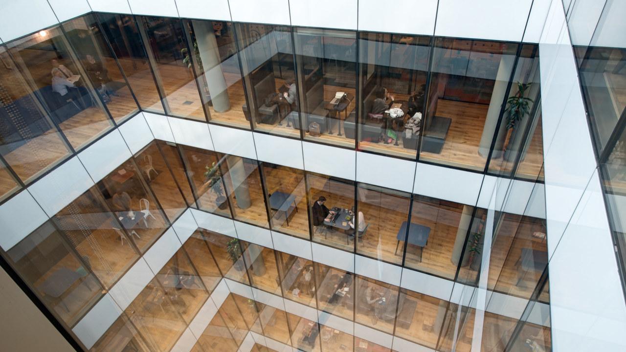 coworking design at WeWork-Moorgate