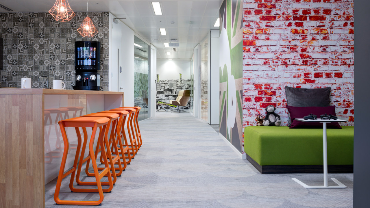 Workplace design for Survey Monkey