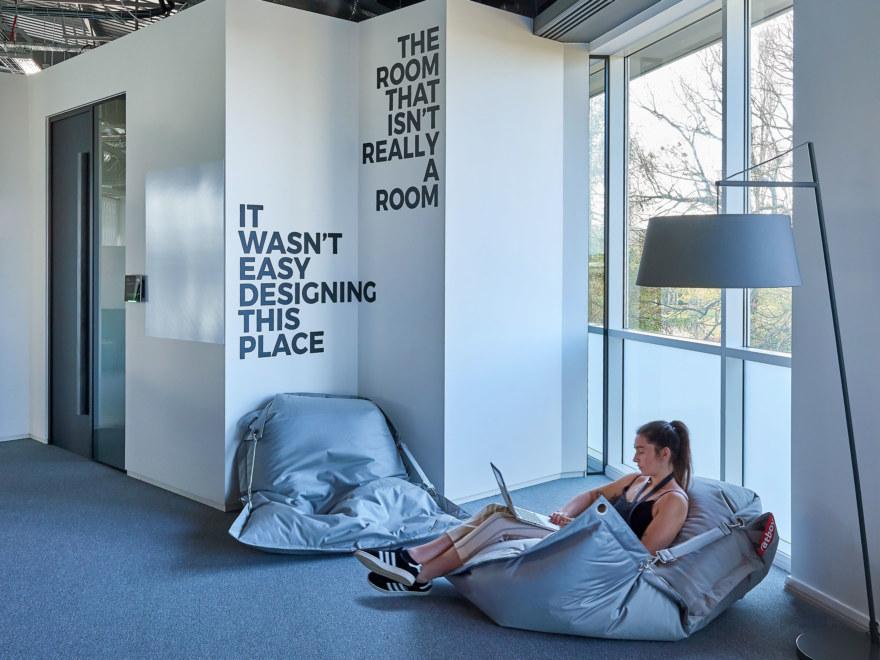 Workplace design for Gymshark