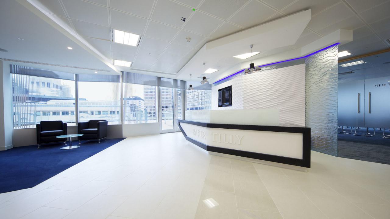 reception design at baker tilly
