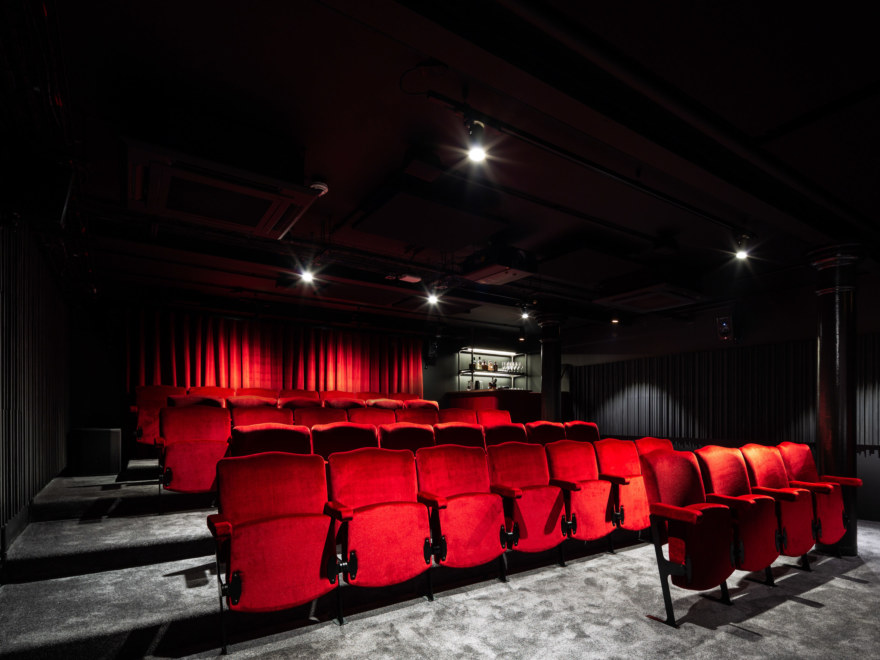 Cinema room coworking design for the Ministry