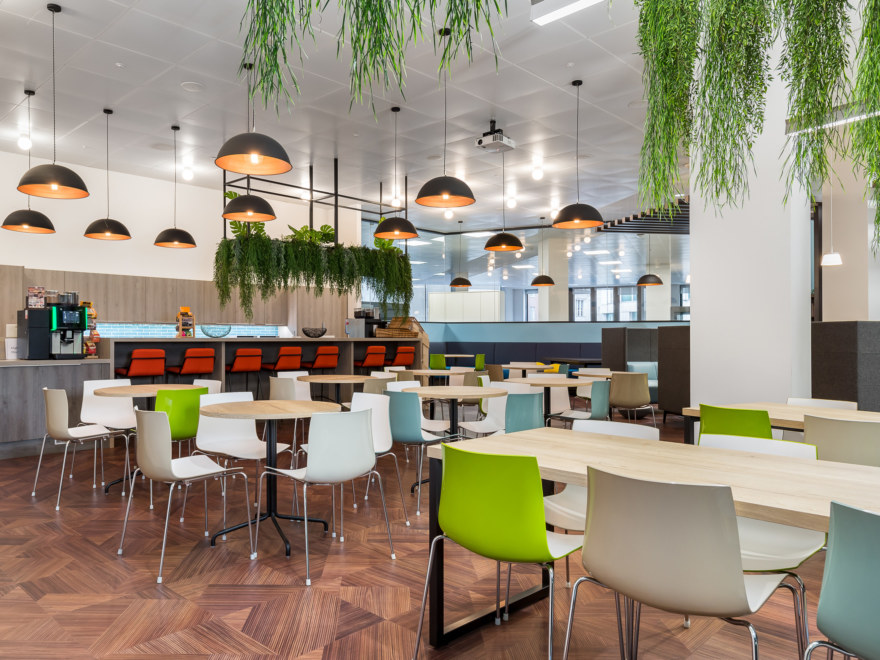 Cafeteria design for Charles Taylor