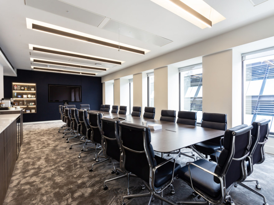 boardroom design for a private equity firm