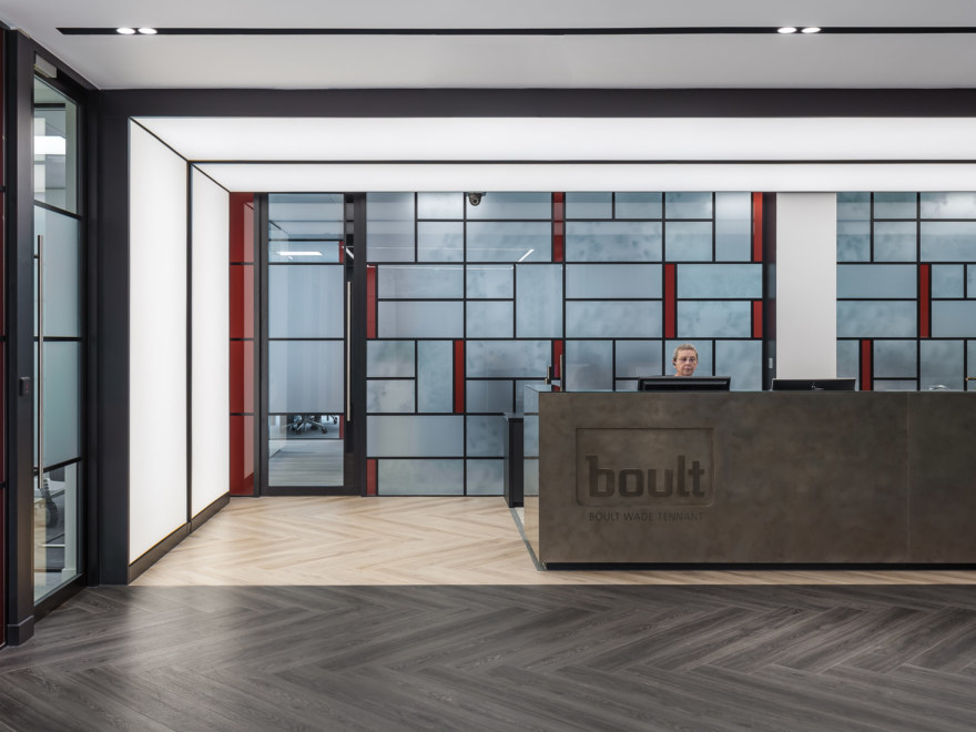 office reception design for Boult Wade Tennant