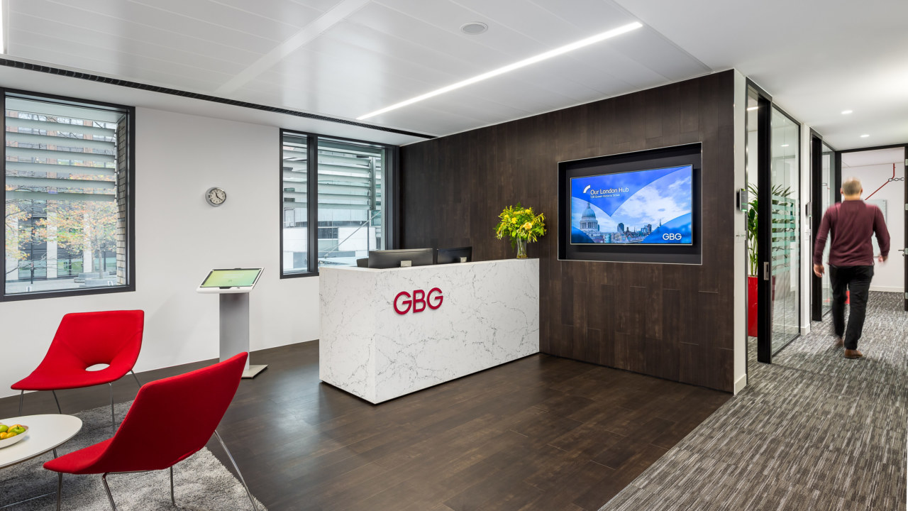 Reception Design for GBG's London Office