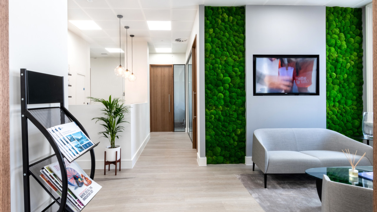Reception design for Iona Capital by Oktra
