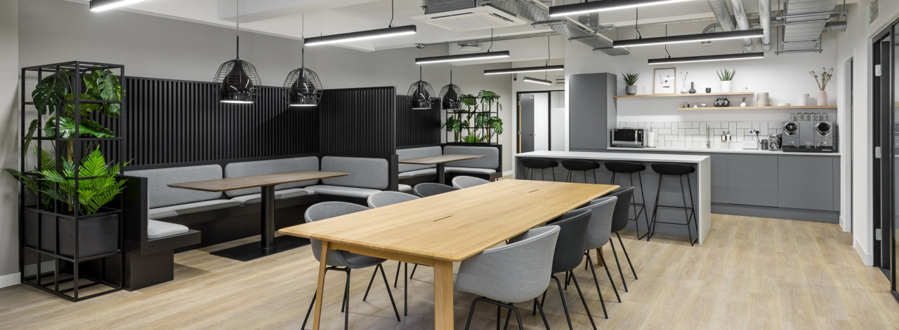 Teapoint and breakout area at newman street coworking space