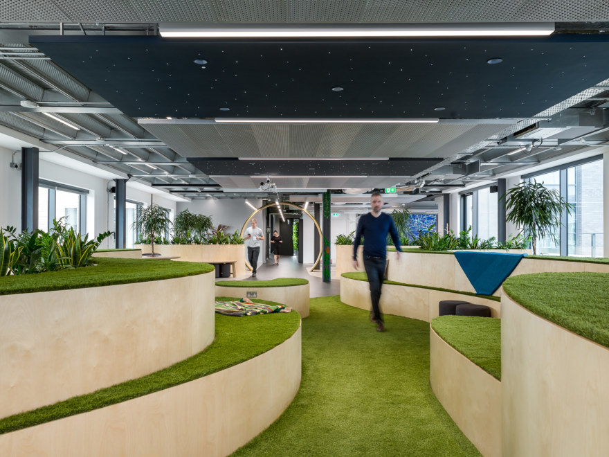 Biophilic Office design and build for Bosch
