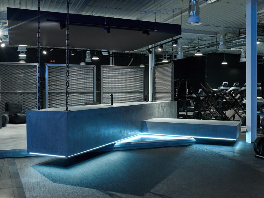 Health bar at Gymshark lifting club