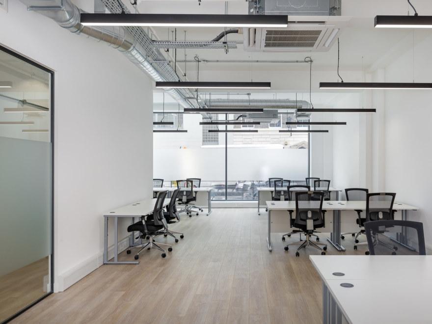 Open plan coworking design