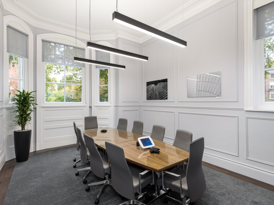 Boardroom design for a law firm