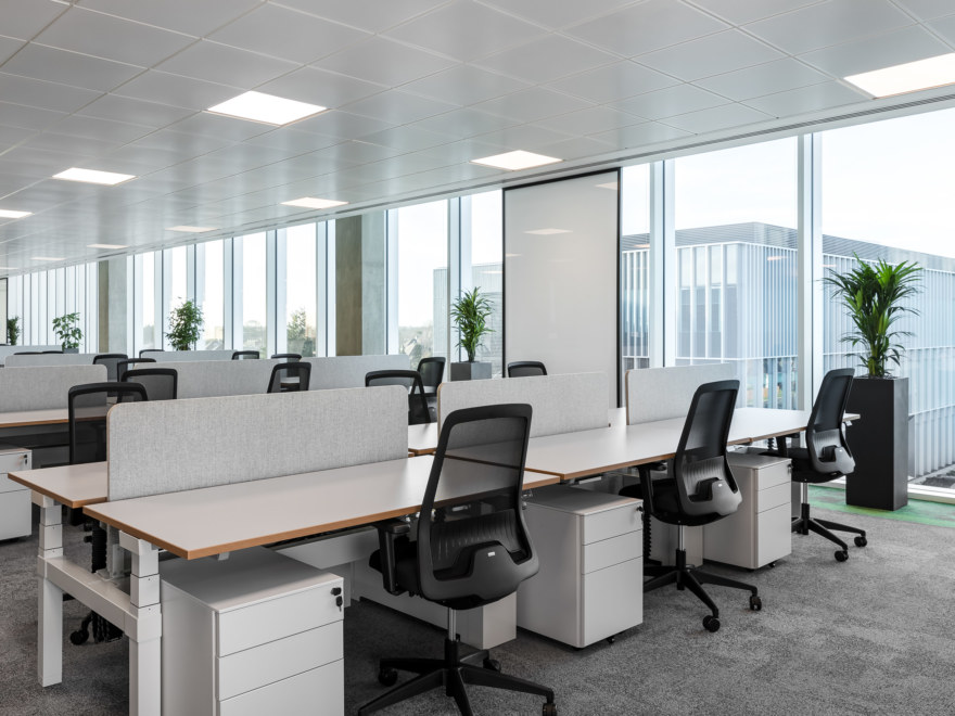 Open plan office fit out design