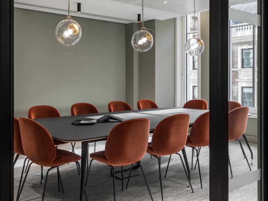 Sleek office meeting room