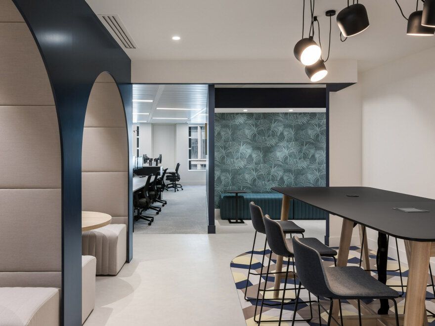 A variety of office work environments